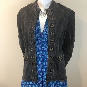 Vintage Cervelle Denim Jacket With Metal Grommets